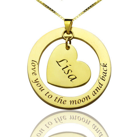 Love You To The Moon And Back Anniversary Necklace