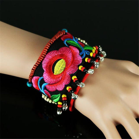 Handmade Art Wrap Ancient Embroidery Bracelets