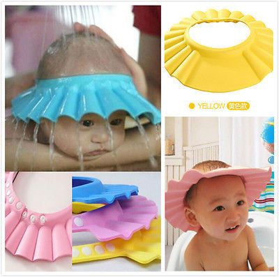 Shower Cap Children Shampoo Bath Wash Hair Shield Hat Soft & Adjustable