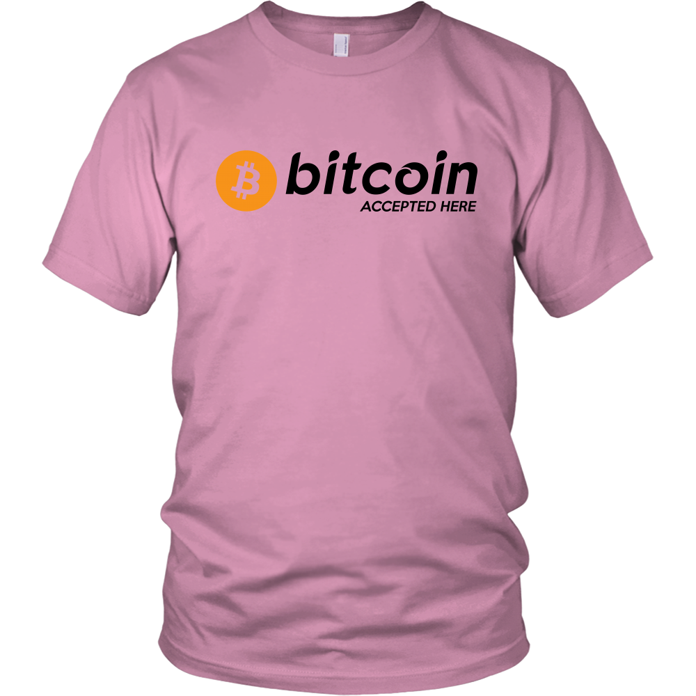 BITCOIN ACCEPTED HERE UNISEX TEES (1)