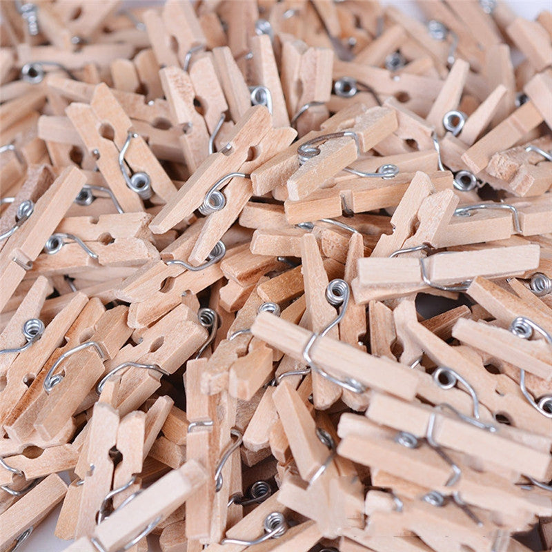Natural Wooden Clips