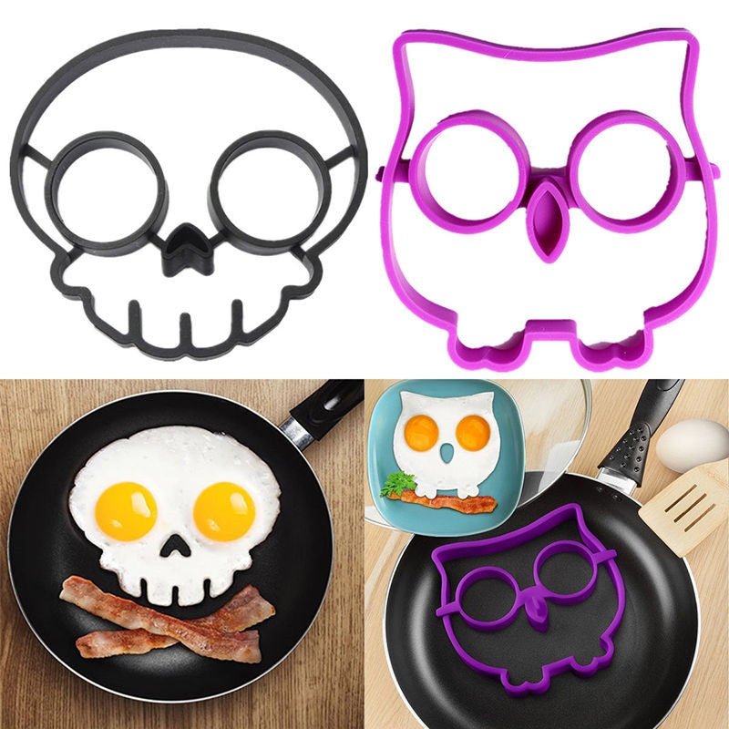 Silicone Skull Egg Fried Mould, Silicone Owl Egg Fried Mould