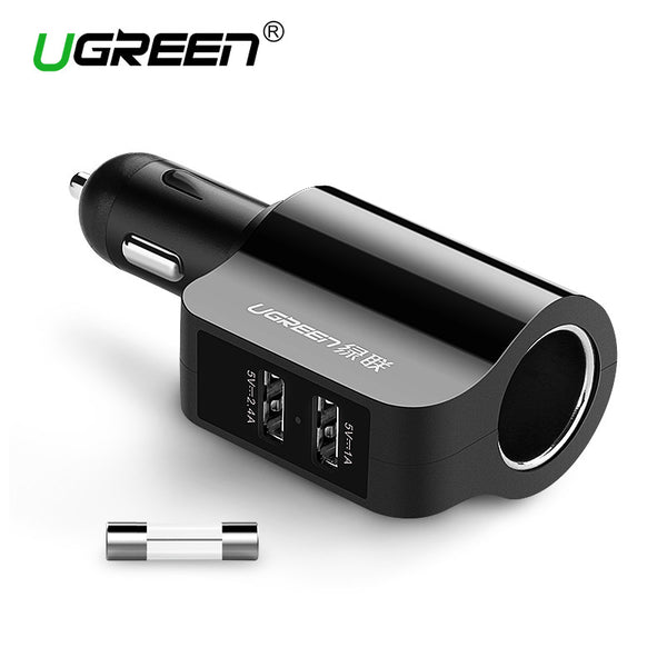 2.4A, 1A Dual USB Car Charger for Universal Mobile Phones, Tablets and Security Record System