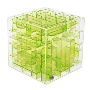 Green Maze Magic Cube Puzzle 3D Mini Speed Cube Labyrinth Rolling Ball Toys