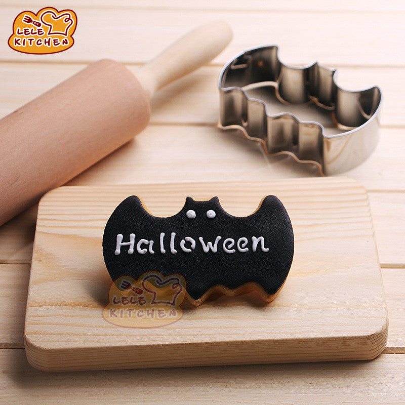 Halloween Fondant Cake Cookies Biscuit Cutter Mold Big Bat Batman Vampire Mould Free shipping 8013