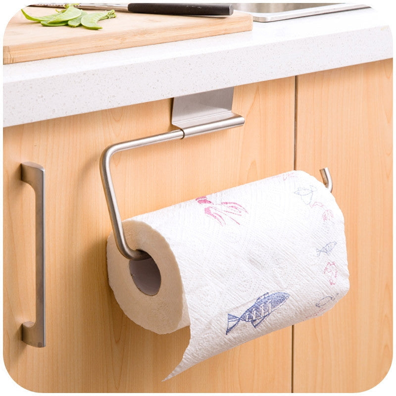 Stainless Steel Toilet Roll Hanger Mop/Clean Cloth/Towel Organizer Hooks For Kitchen