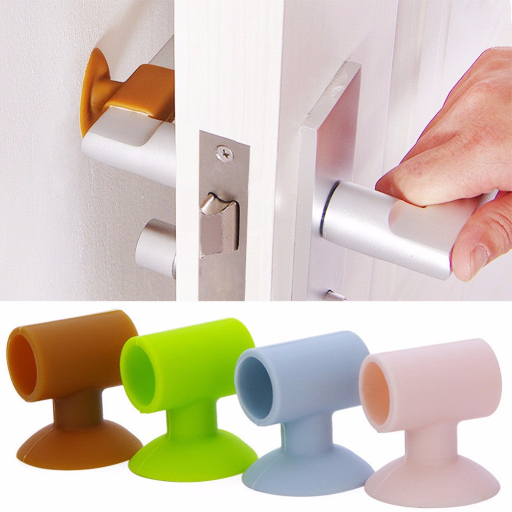 1pcs Silicone Door Handle Knob Crash Pad Wall Protectors Self Adhesive Door Stopper