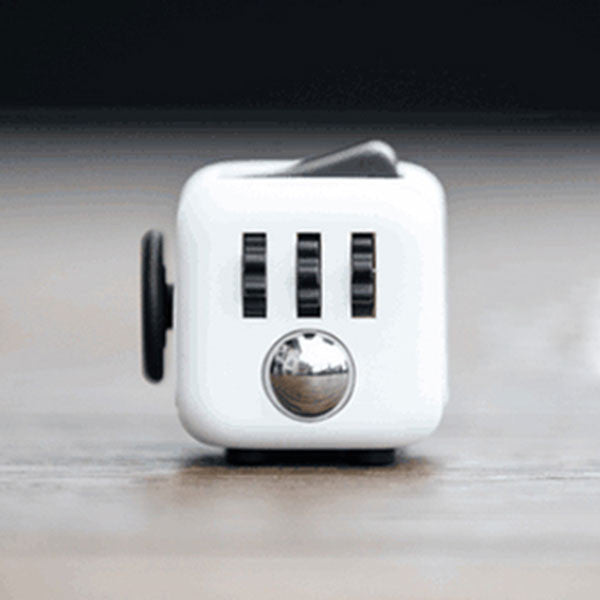 Stress Relief and Focusing Fidget Cube for ADHD Kids, Adults - Color White & Black - Free Shipping