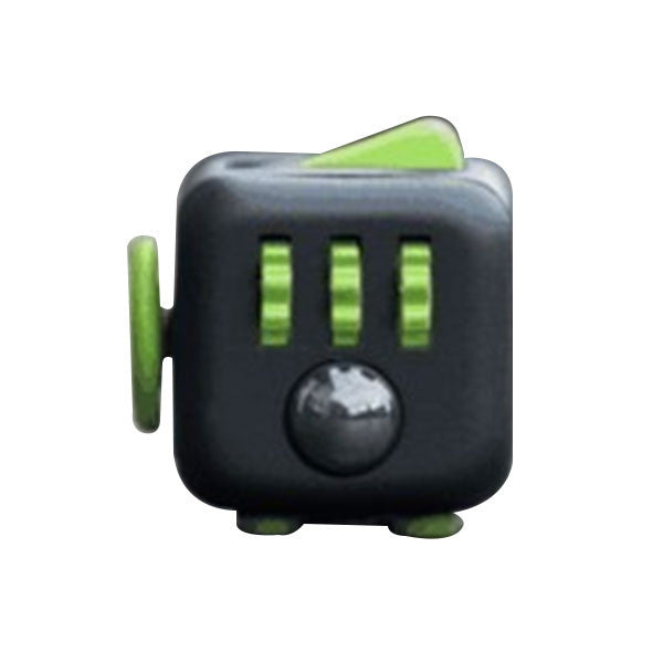 Stress Relief and Focusing Fidget Cube for ADHD Kids, Adults - Color Black & Green - Free Shipping