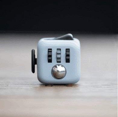 Stress Relief & Focusing Fidget Cube for ADHD Kids, Adults, Light Grey Black Color, Free Shipping