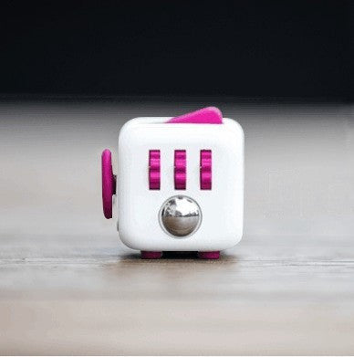 Stress Relief and Focusing Fidget Cube for ADHD Kids, Adults - Color White & Pink - Free Shipping