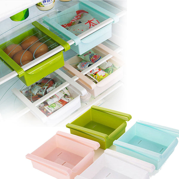16x16x7cm Fridge Space Saver Storage Rack Shelf 1pc