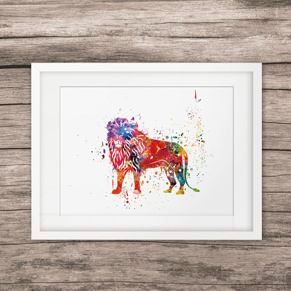 Lion Wall Art Watercolor Paint Wall Hanging Art Picture