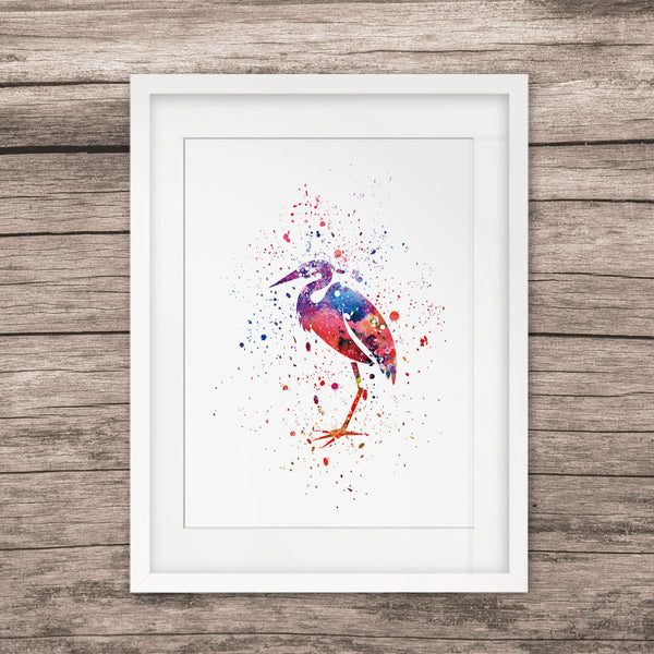 Bird Painting Watercolor Art Home Decor Wall Hanging Picture