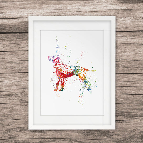 Dog Art Painting Animal Art Watercolor Paint Nursery Home Decor Dog Picture