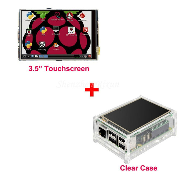 "3.5"" LCD TFT Touch Screen Display for Raspberry Pi 2 / 3 Model B Board + Acrylic Case + Stylus"