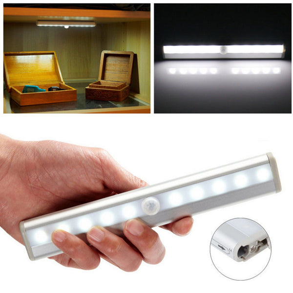 10 LED IR Infrared Motion Detector Wireless Sensor Closet Lighting