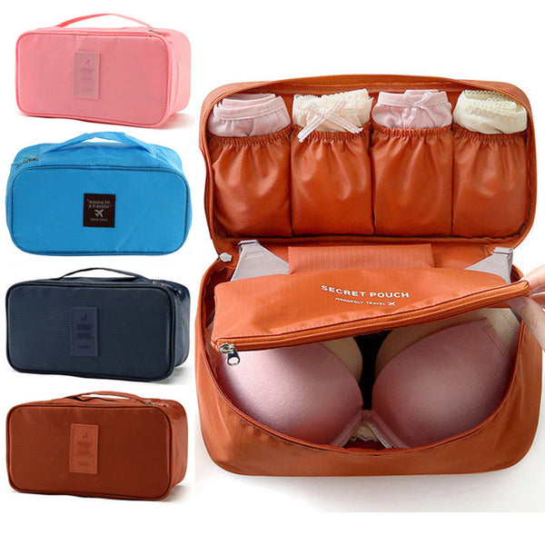 Travel Organizer Bra Underwear Pouch Cosmetic Bag Portable Luggage Storage 6 Colors Free Shipping