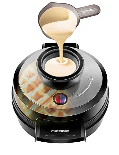 Chefman Belgian Waffle Maker,r Volcano Waffle Iron for Mess-& Stress-Free Waffles