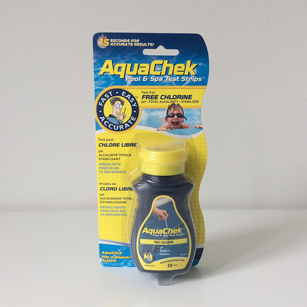 AquaChek Chlorine Yellow Test Strips (50 Strips)