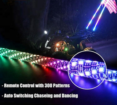 NEW! LED Twisted whips