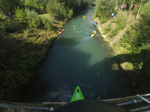 The Dolomitennman 7m kayak jump