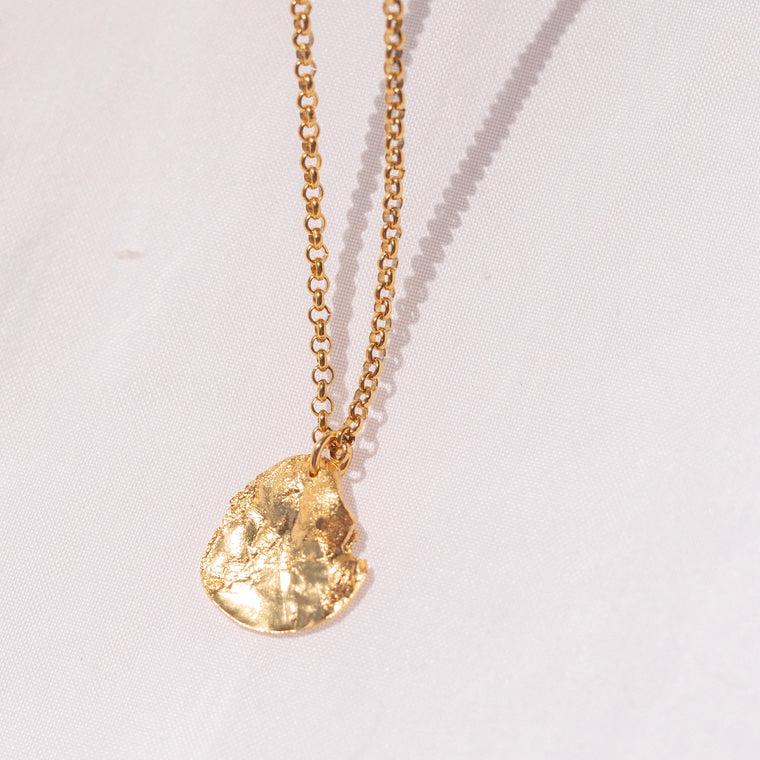 Collar Moneda Irregular