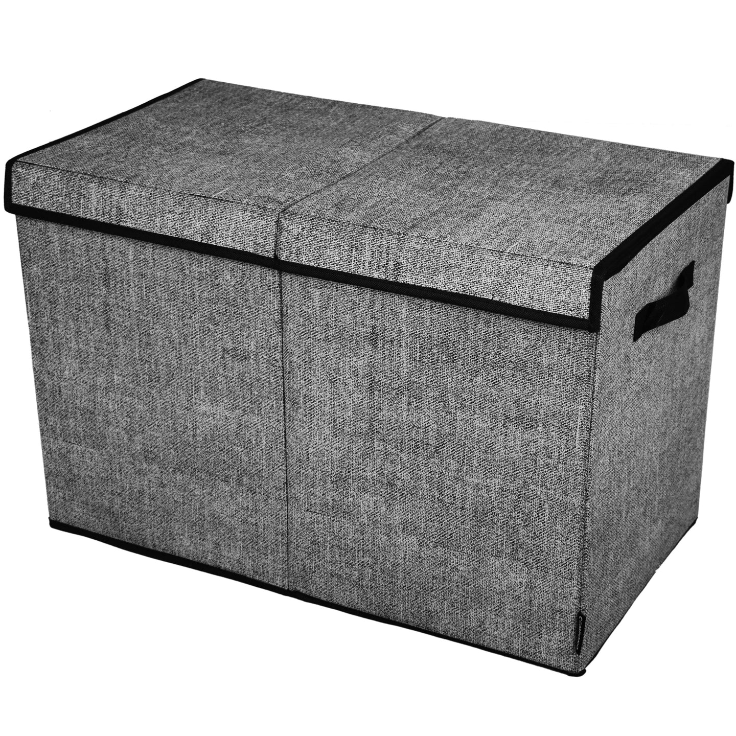 COMPONO Dark Grey Storage Box with Flip Top