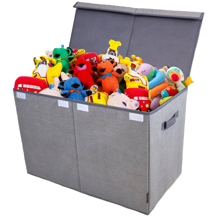 COMPONO Gray Toy and Storage Chest with Lid Open and Toys