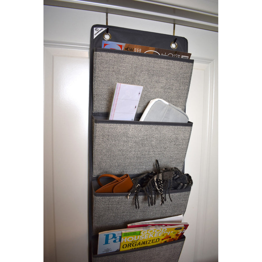 Grey Over Door File Folder Organizer