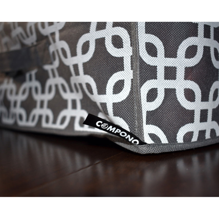 COMPONO logo on patterned Storage Bag