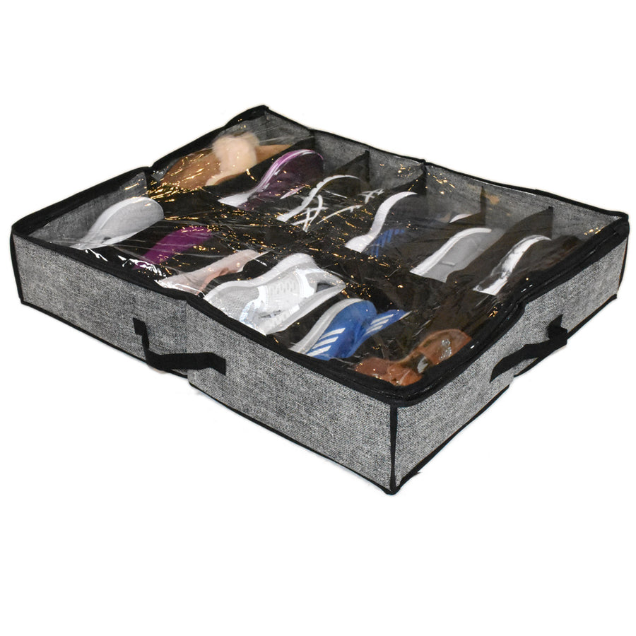 Underbed show and boot organizer in grey