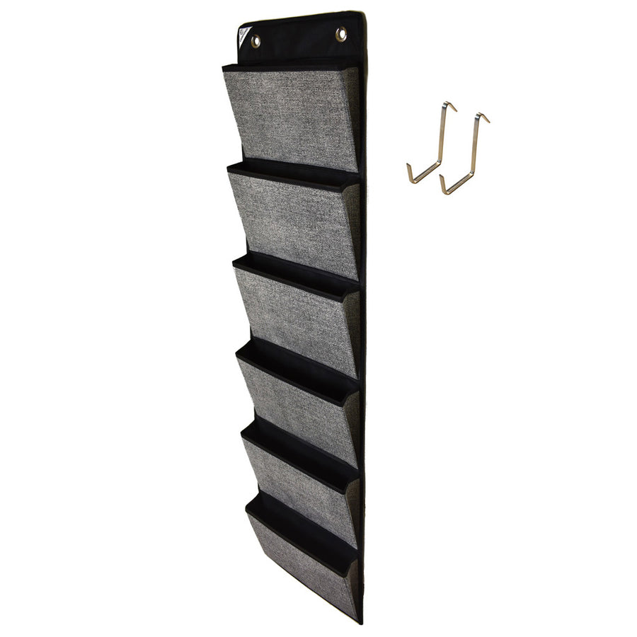 Black over door office organizer