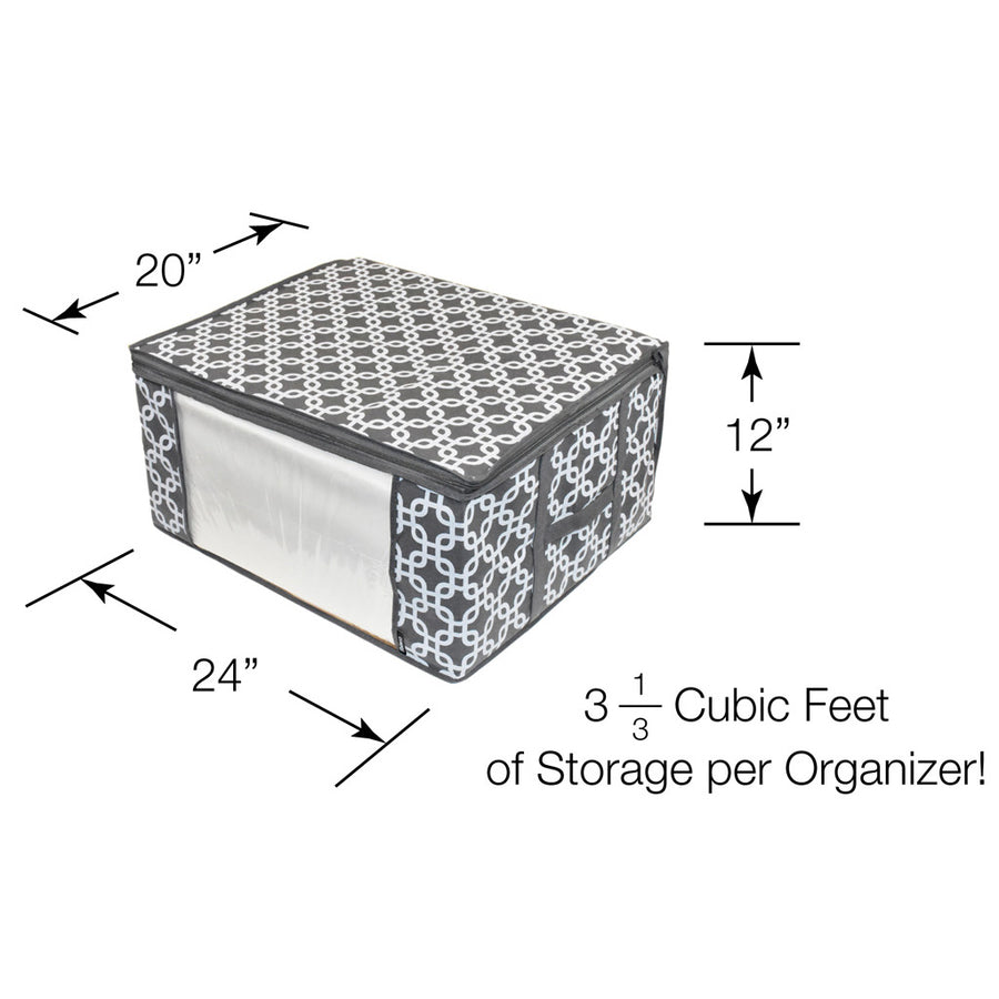 Dimensions of Trellis patterned storage bins