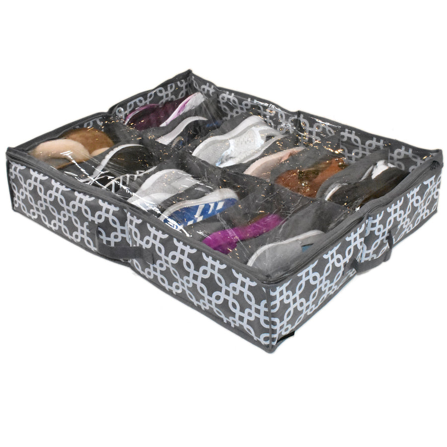 Underbed 12 pair shoe holder