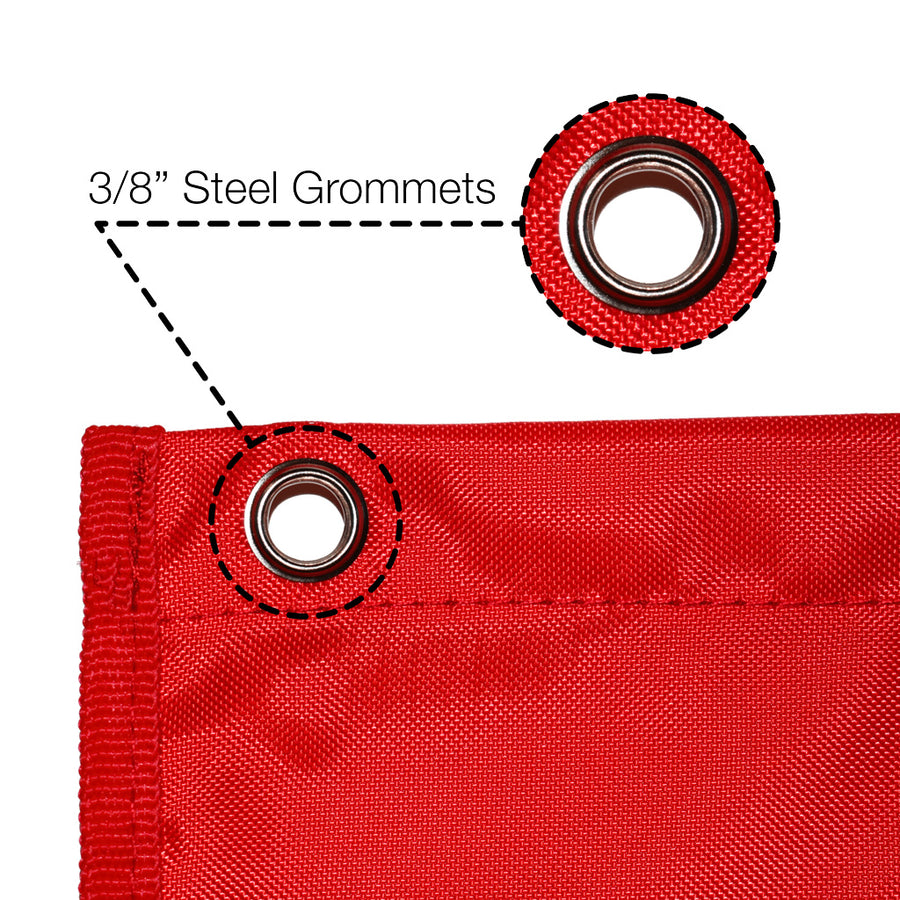 grommet on red Wall Storage Pocket Chart File Organizer