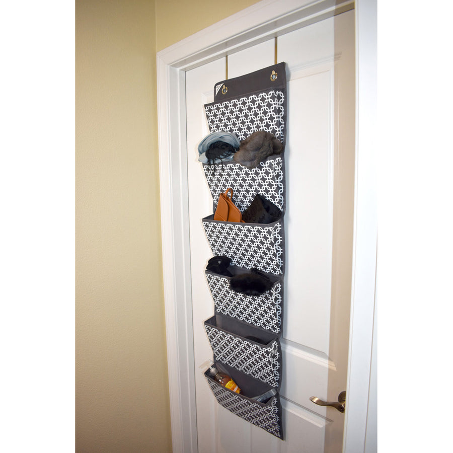 COMPONO Over Door office supply organizer with items