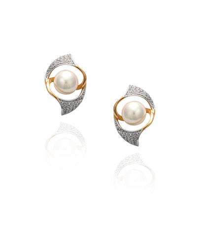 Vintage Pearl Stud 'Anna' Earrings