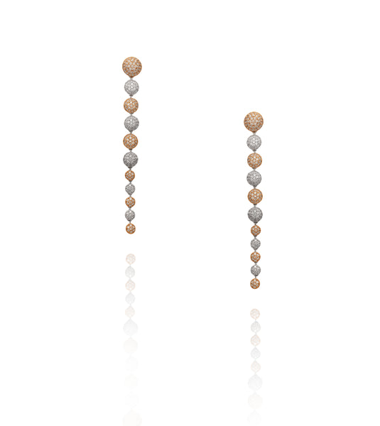 Pavé Crystal Row 'Carrie' Earrings