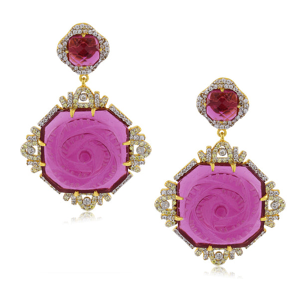 BERRY ROSE EARRINGS
