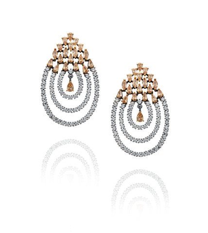 Onyx Loop 'Galia' Chandelier Earrings
