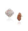HENA STUD EARRINGS ROSE GOLD