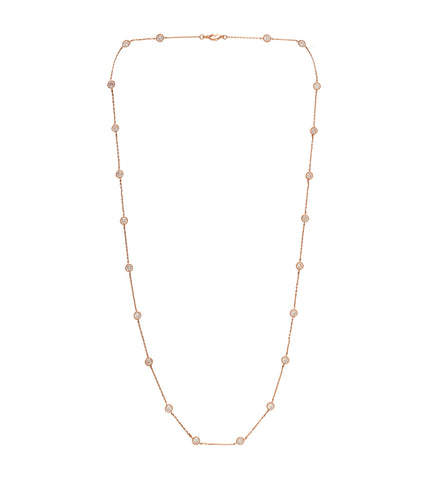 Rose Gold Solitaire 'Jana' Crystal Necklace