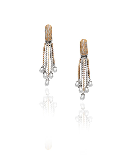 Pavé Row 'Jemma' Chandlier Earrings