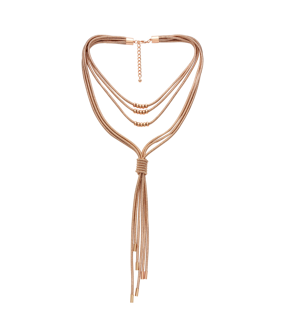 Rose Gold Rope 'Lydia' Necklace
