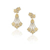 Flora Ear Cuff Chandelier Earrings