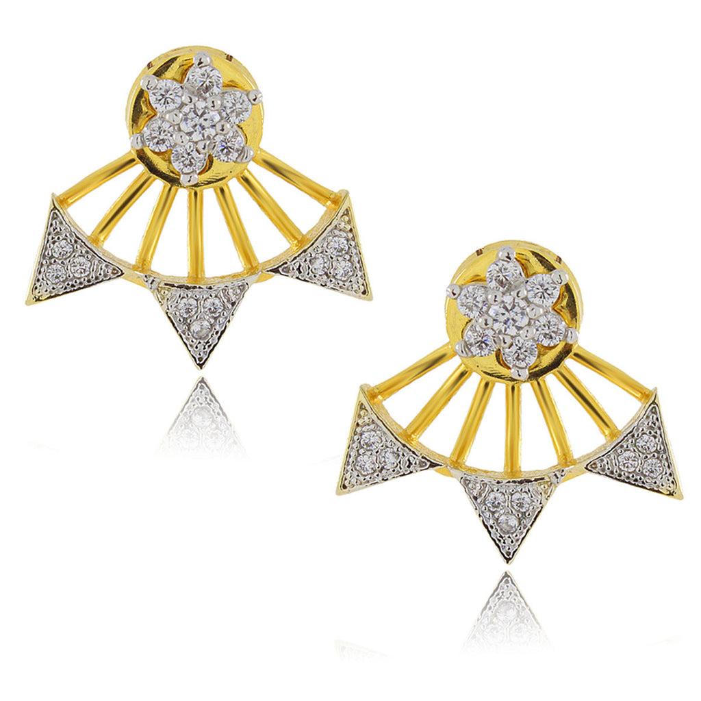 Spike Ear Jacket Earrings