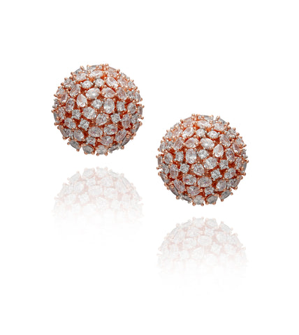 Rose Gold Globe Stud 'Reena' Earrings