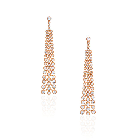 MELINA EARRINGS ROSE GOLD