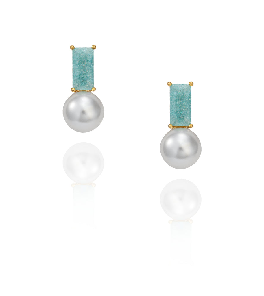 SARA EARRINGS BLUE
